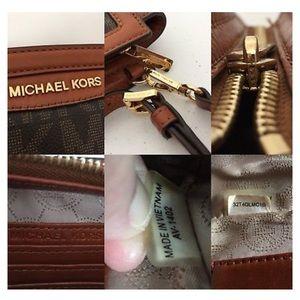 Michael Kors Bags - Michael Kors Selma Brown Sinature Mini Messenger